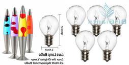 5 Pack 25 Watt Lava Lamp Bulb,E17 Base The Original Replacem