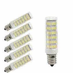 5 Pack LED Light Bulbs E12 110V 6W 60w equivalent Warm White