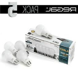 5 Pack Non-Dimmable Regal LED 5000K 60W Equivalent 9W Daylig