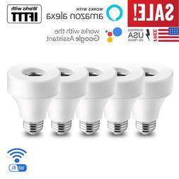 5 pack wifi smart e27 e26 bulb