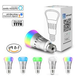 5 pack wifi smart light bulb bulbs