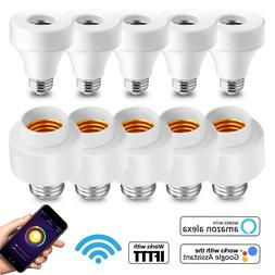 WiFi Smart Light Bulb Socket Adapter E27 E26 Works With Goog