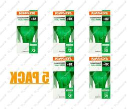 5 Brand New Sylvania Transparent Green Light Bulb #GREENLIGH