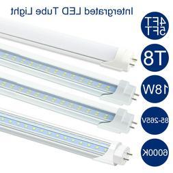 50Pcs T8 4FT 5FT Intergrated LED Fluorescent Tube Light Bulb