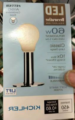 5pcs dimmable led 5w 60w bulb candelabra