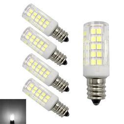 5pcs E12 Candelabra C7 LED bulb 64Led Ceramics Light 6W 110V