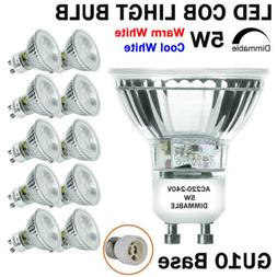 Dimmable GU10 COB LED Spotlight 5W Full Glass Cover Reflecto