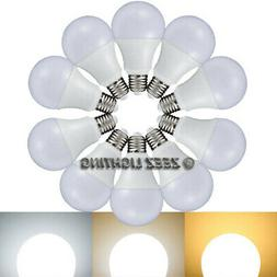 5W 7W 9W 12W LED Light Bulbs A19 E26 Soft Warm Cool Bright W