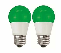 TCP 5W Equivalent Green LED A15 Regular Shaped Light Bulbs,