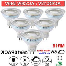 5W LED MR16 Spotlight Light Bulbs Full Glass Cover Reflector
