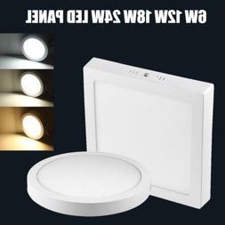 6/12/18/24W LED Surface Mounted Ceiling Down Panel Light Kit