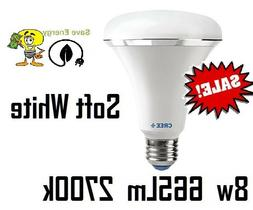 6 Cree 8w Equivalent 65w Soft White  Br30 Dimmable LED Flood