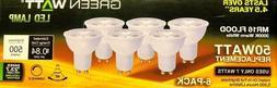 6 Bulbs Green Watt 50W Equiv. Dimmable Warm Wht Flood MR16 L