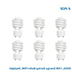 6 Bulbs, Twister GU24,13W Energy Saving Bulb= 60W, Daylight