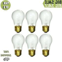 6 pack 15 Watt Decorative A15 Incandescent Light Bulb Medium