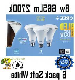 6 Bulbs Cree 8w = 65w SoftWhite 2700k Br30 PAR30 Dimmable LE