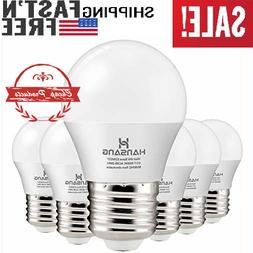 6 Pack A15 LED Bulb Light 6 Watt ,E26 Standard Base,5000K Da