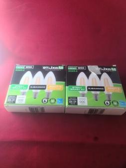 6 pack Candelabra B10 LED Light Bulbs 2700k 40W 300L Equival