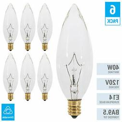 Clear Chandelier Bulbs 40W Watt European Base E14 Torpedo T
