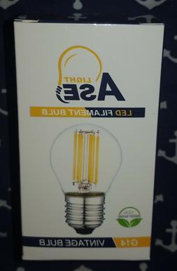 6 PACK Filament LED light bulbs Edison Vintage 110V E26 6W 4
