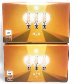 6-Pack G16.5 LED Filament Bulb Dimmable 40W Equivalent E26 B