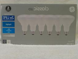 6 Pack GE LED Dimmable Bulb 60W 65W = 8.5W Daylight BR30 / R