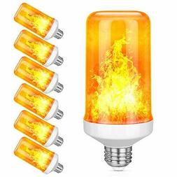 6 Pack LED Flame Effect Simulated Nature Fire Light Bulbs E2