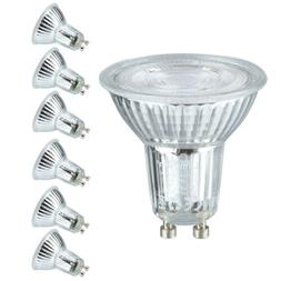 6 Pack LED Light Bulbs GU10 Base 5W Spotlight 500 Lumen 6000