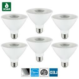6 Pack Sunlite LED PAR30S Spotlight, 10W, 3000K Warm White,
