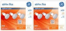 6 Pack General Electric 45w R20 Incandescent Light Bulbs Whi