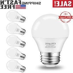 6 Packs A15 LED Bulb, Ceiling Fan Light Bulbs 6W ,4000K, 600