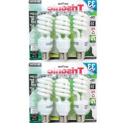 6 PC Daylight Bulb Light 33 W Energy 150 Watt Output White C