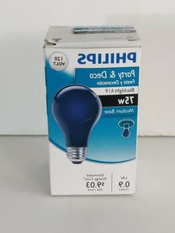 6- Philips 75 Watt A19 Party Incandescent Blacklight Light B