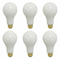6 PK 3-Way Light Bulbs 100 / 150 / 250-Watt Soft White Incan