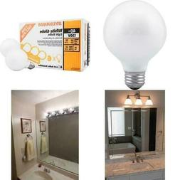 6 Pk Sylvania Soft White Round Globe Case Light Bulbs Bathro
