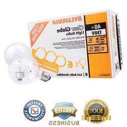 6 Pk Sylvania Soft White Round Globe Case Light Bulbs Bathro