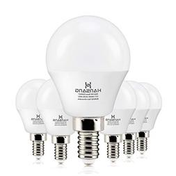 6 watt60w Equivalent Hansang LED Bulbs Light E12 Screw Base