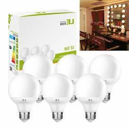 6 x Globe Vanity Light Bulbs Round G25 E26 Base 40W Equivale