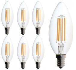 60 watt Candelabra Bulbs, Bioluz LED Dimmable Filament Clear