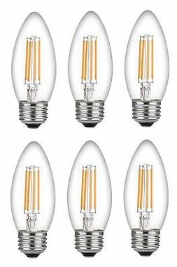 Bioluz LED 60 Watt Candelabra Bulbs Medium Base, Candelabra