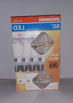 Sylvania 60-Watt Clear Glass A19 LED Light Bulbs w/Standard