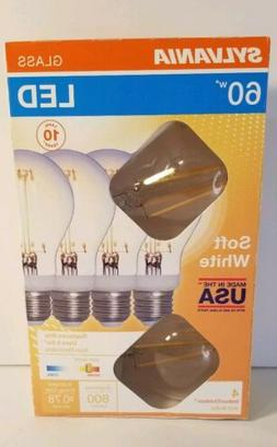 Sylvania 60-Watt Clear Glass A19 LED Light Bulbs w/Standard