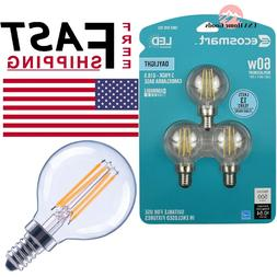 60 Watt Equivalent G16.5 Dimmable Clear Filament Vintage Sty