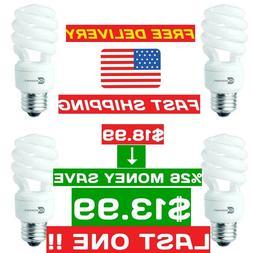 60-Watt Equivalent Spiral Non-Dimmable CFL Light Bulb Soft W
