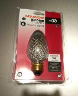 Sylvania 60-Watt F17 Crystal Candle Candelabra/Ceiling Fan D