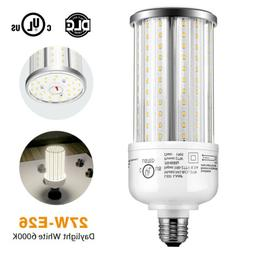 6000K Bright White 27W LED Corn Bulb Area Light Replace 75Wa