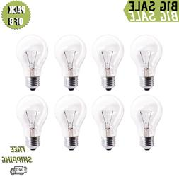 Pack Of 8 60A19/CL 560 Lumens 60 Watt Standard Household A19