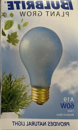 Bulbrite 60A19PG 6PK 60 Watt Incandescent Plant Grow A19 120