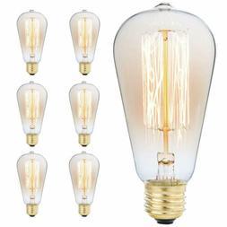 60w/110v Edison Antique Vintage Style Light Bulb, Amber Warm