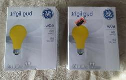 GE 60w A19 Bug Light. Lot Of 2. 4 Bulbs Total. New. Free Shi
